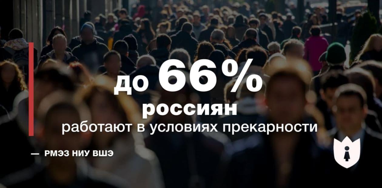 статистика прекарность прекариат в России