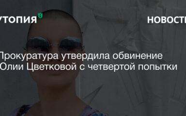 юлии цветковой предъявили обвинение