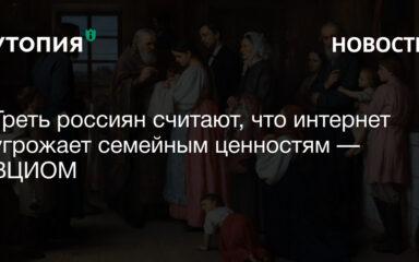 Треть россиян считают, что интернет угрожает семейным ценностям — ВЦИОМ