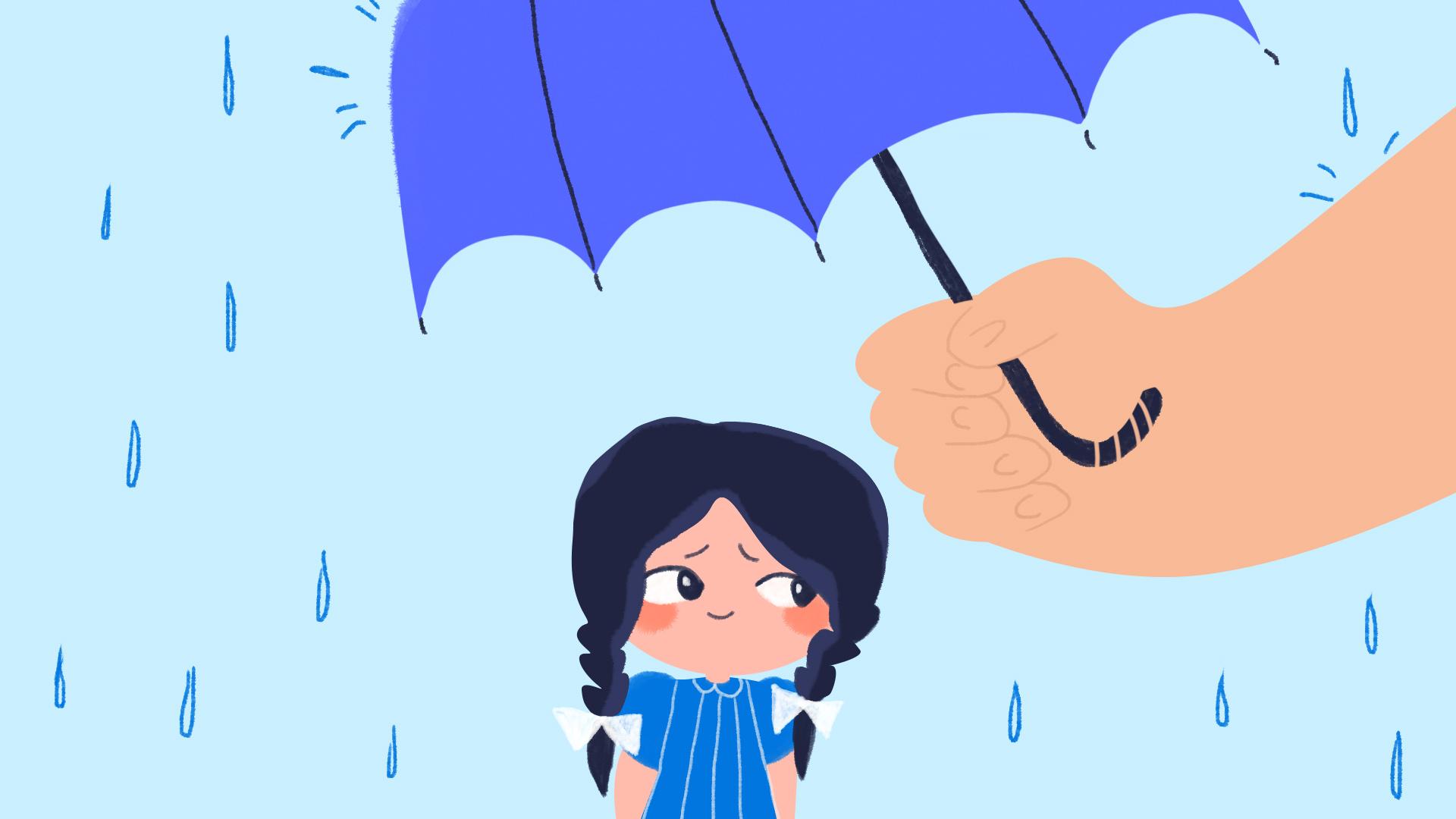 девочка под зонтом воспитание детей