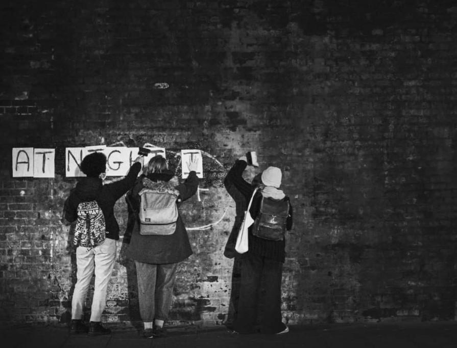 фем стрит-арт feminist collages London