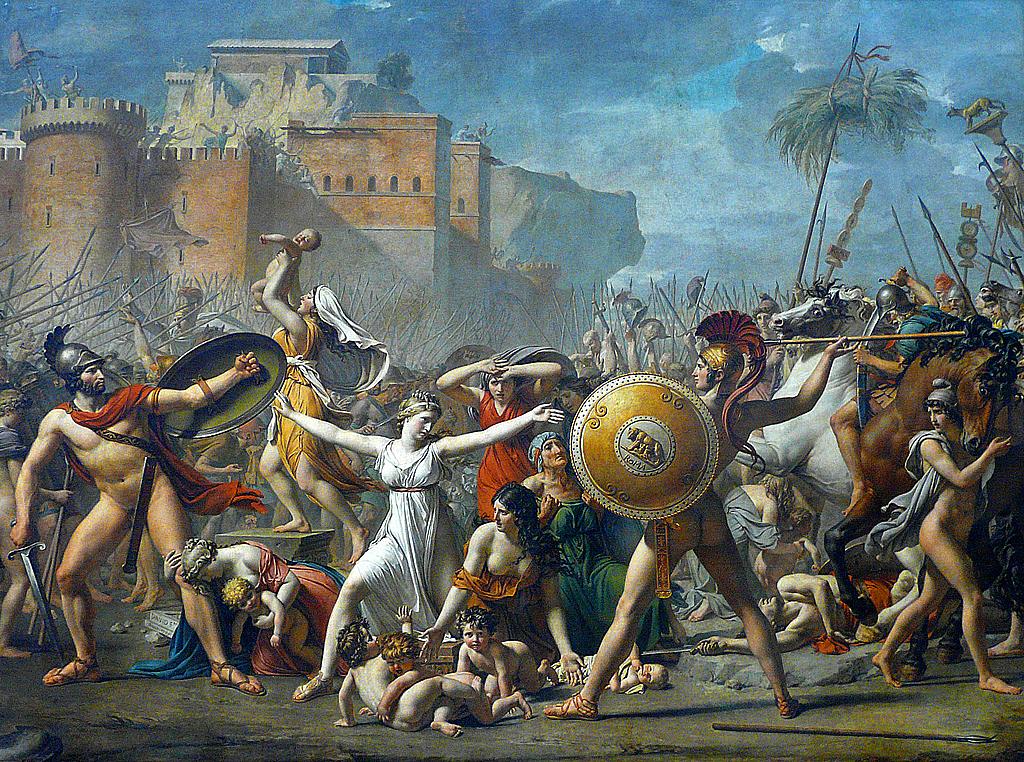 Древний Рим женщины, роли женщин в Риме, сабинянки картина