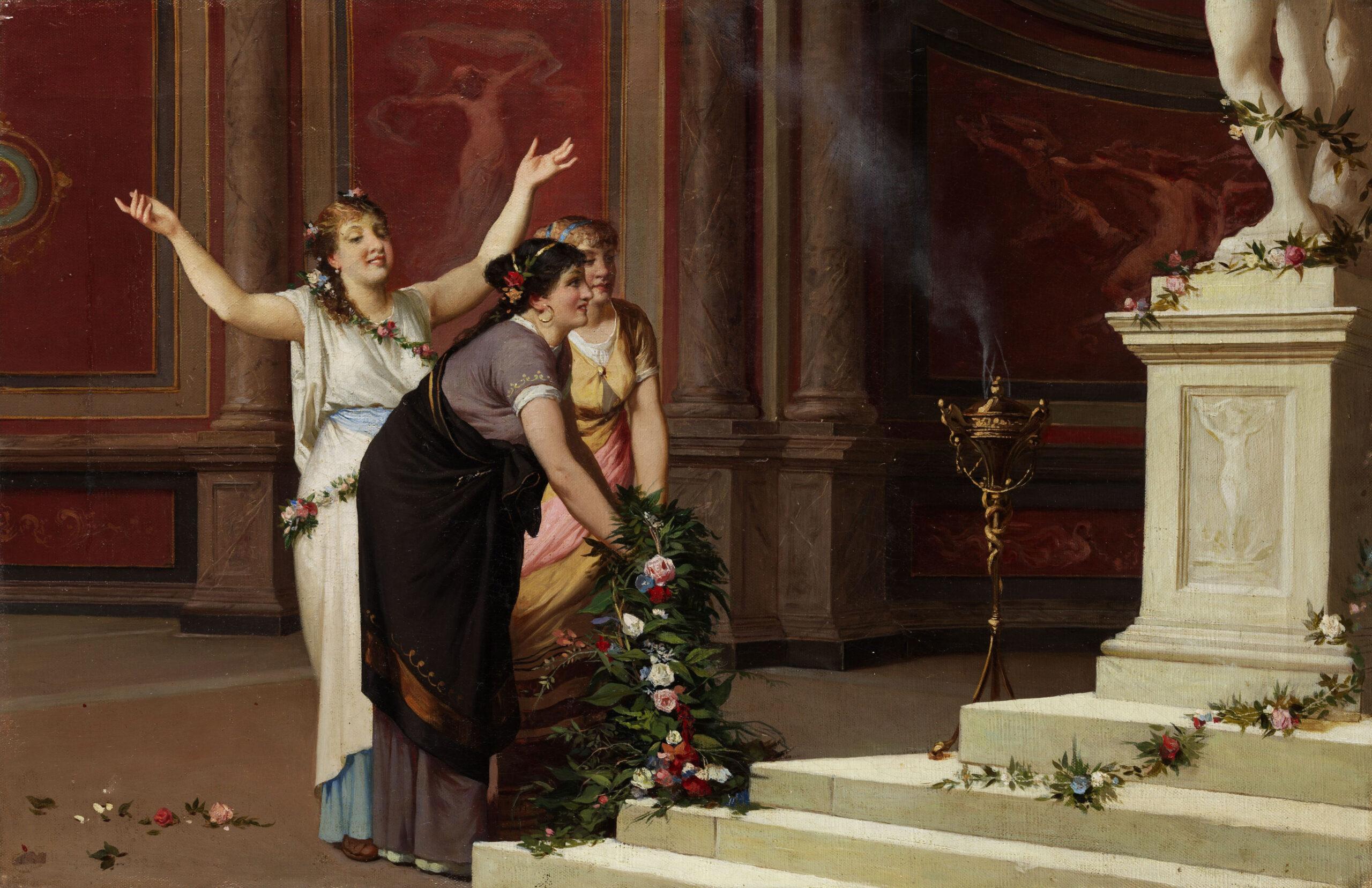 женщины в древнем риме, жизнь женщин в риме, картина жертва богам