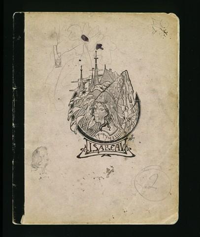 Обложка дневника Элизабет Кауфман, который она вела, пока жила у Пастора Трокме