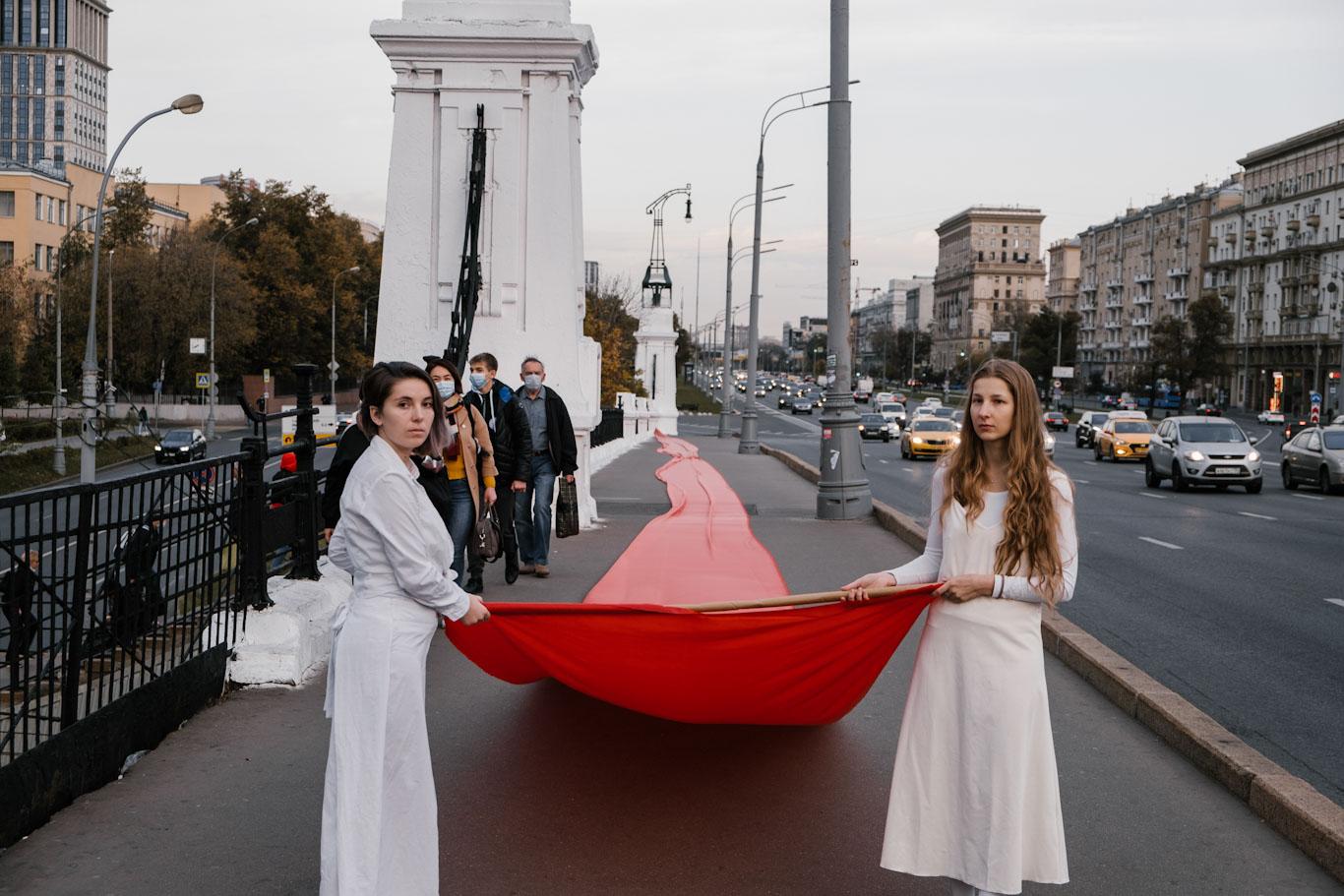 политическая акция, российские акционистки, художницы, Беларусь