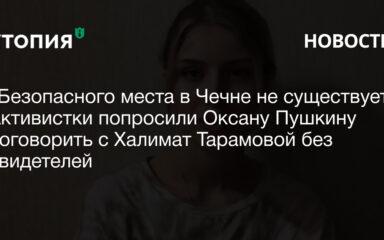 «Безопасного места в Чечне не существует». Активистки попросили Оксану Пушкину поговорить с Халимат Тарамовой без свидетелей