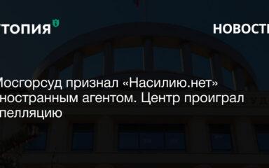 Мосгорсуд признал «Насилию.нет» иностранным агентом. Центр проиграл апелляцию