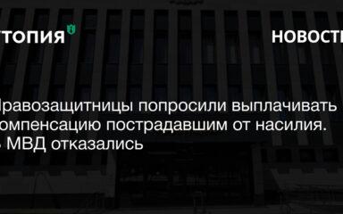 Правозащитницы попросили выплачивать компенсацию пострадавшим от насилия. В МВД отказались