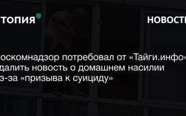 Роскомнадзор потребовал от «Тайги.инфо» удалить новость о домашнем насилии из-за «призыва к суициду», Роман Терентьев