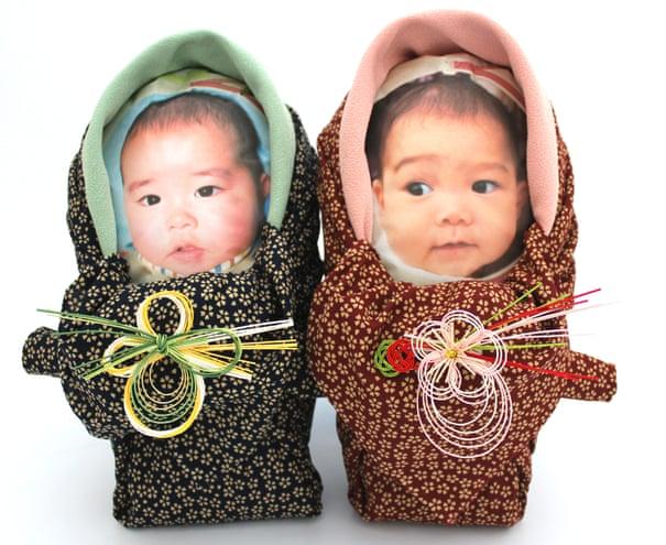 рисовый мешок с фотографией младенца